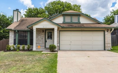 SOLD – 2111 Waterway Bend, Austin, TX 78728 – Wells Branch